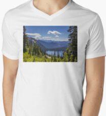 Dewey Lake Mt Rainier National Park Men's V-Neck T-Shirt