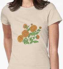 Chrysanthemums Womens Fitted T-Shirt