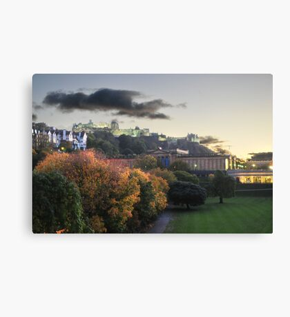 Dusk in Edinburgh Canvas Print