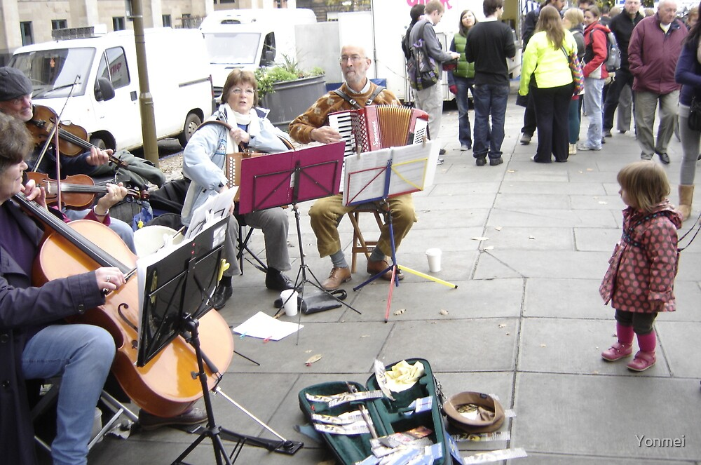 Music at the Market by Yonmei