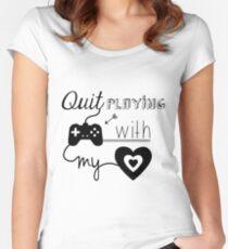 Camiseta entallada de cuello redondo BSB - Deja de jugar juegos con mi corazón ...