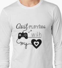 BSB - Quit playing games with my heart... Long Sleeve T-Shirt