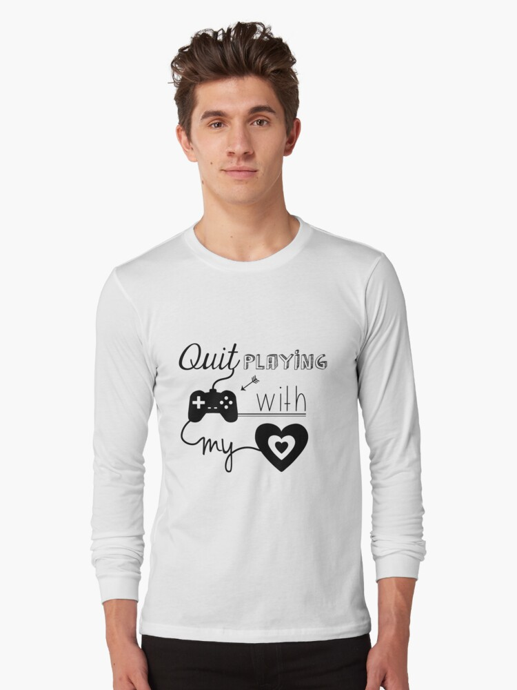 BSB - Quit playing games with my heart... Long Sleeve T-Shirt Front