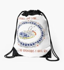 Starscape White Drawstring Bag