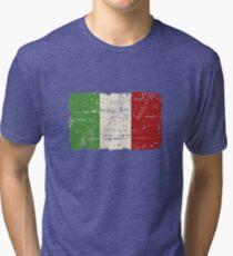 Italy Flag - Vintage Look Tri-blend T-Shirt