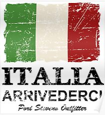 Italy Flag - Vintage Look Poster