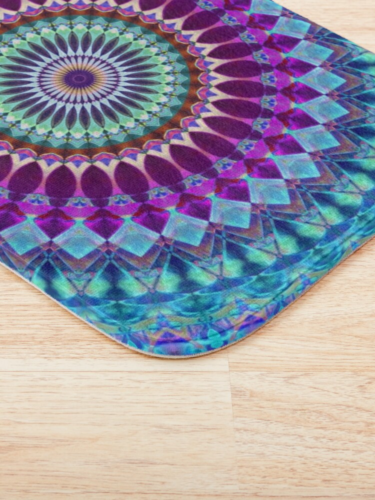 Alternate view of Geometric Mandala Bath Mat