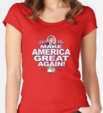 Donald Trump Make America Great 2016 Women's Fitted Scoop T-Shirt