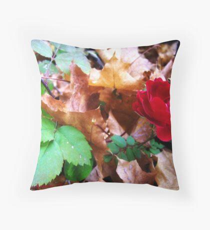 Autumn Rose Throw Pillow