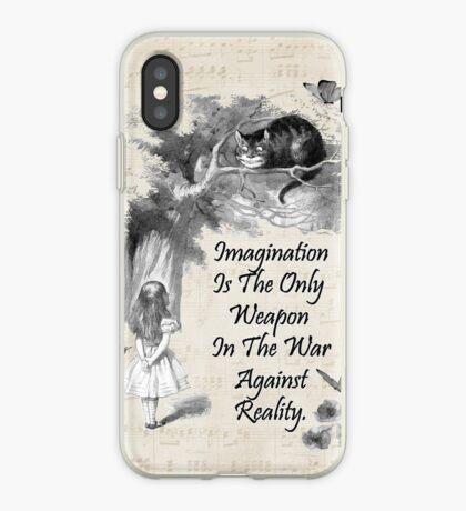 Cita de Alicia en el país de las maravillas - Imaginación Vinilo o funda para iPhone