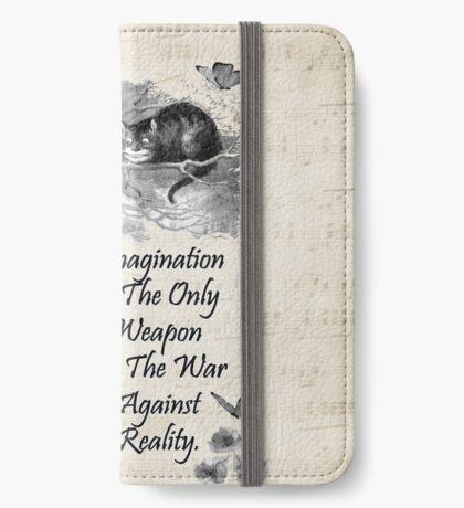 Cita de Alicia en el país de las maravillas - Imaginación Funda tarjetero para iPhone