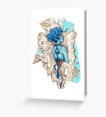Abstract Lapis Lazuli Greeting Card