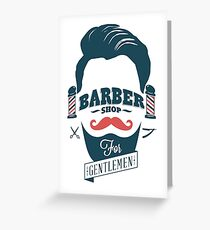 Tarjeta de felicitación Barbería