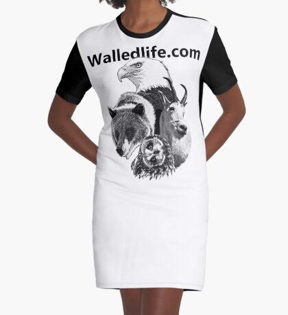 Walledlife.com Graphic T-Shirt Dress