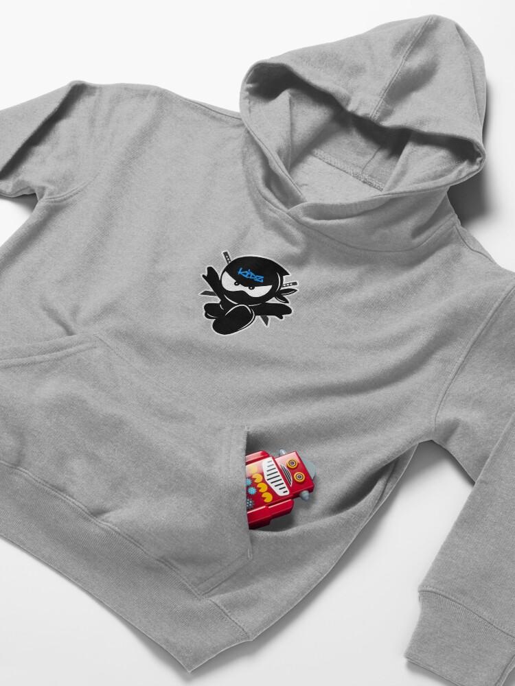 Alternate view of Ninja kidz Tv Logo Kids Pullover Hoodie