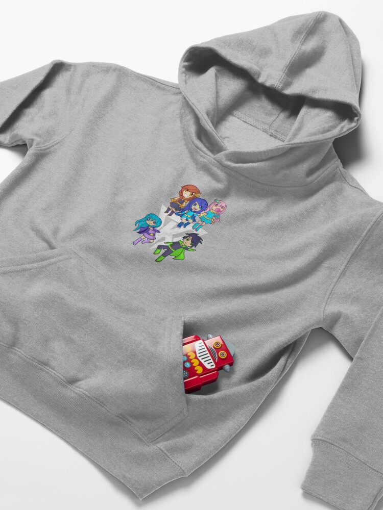 Alternate view of Funneh and the Krew White Kids Pullover Hoodie