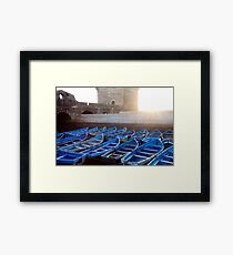 LINED UP- Essaouira, Morocco Framed Print