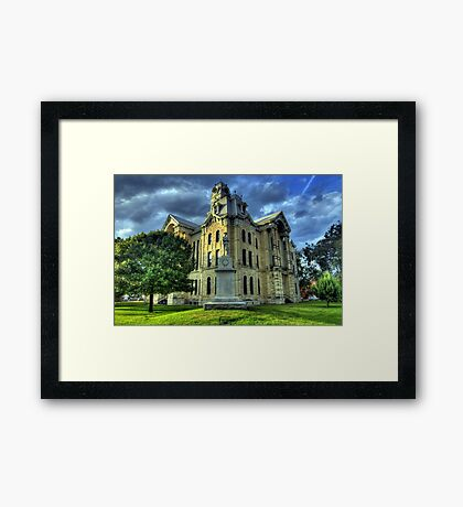 Hill County Courthouse Framed Print