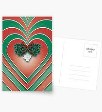 Mistletoe Heart - A Christmas Card Postcards