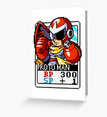 Proto Man - Mega Man Greeting Card