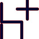 H+ Transhumanism Humanity Plus Icon  by GenerationByte