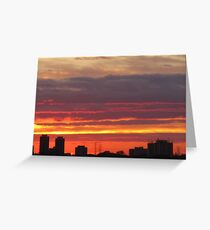 West Side Story  Rumble Sunset Greeting Card