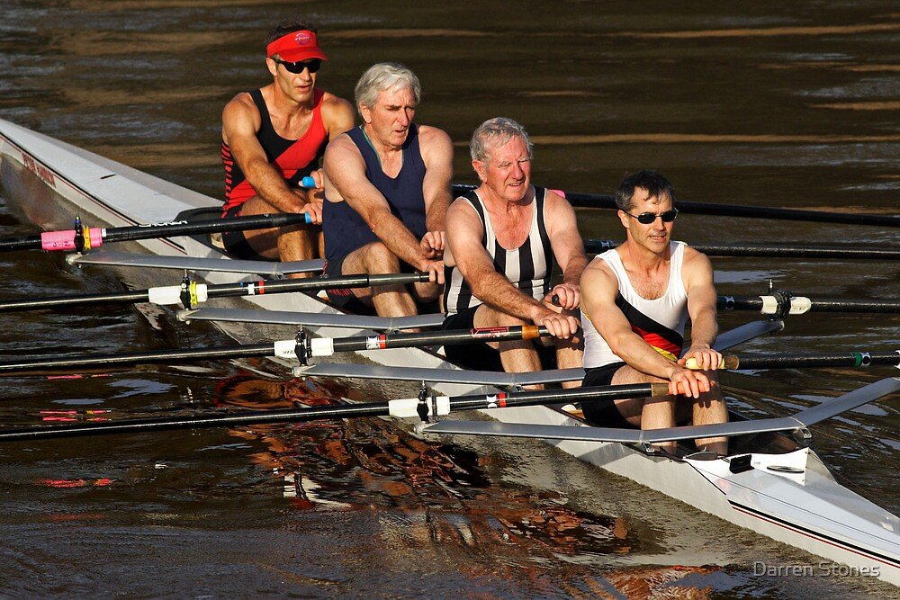 Rowing the Maribyrnong River by Darren Stones