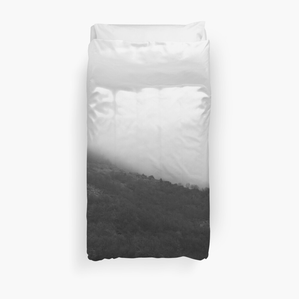 Foggy Mountains Duvet Cover