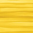 Yellow Watercolor Lines Pattern by blueskywhimsy