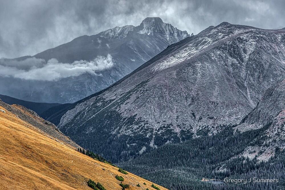 Longs Peak Storm by Gregory J Summers