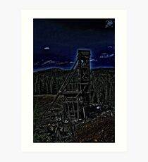 Old Mining Structure Art Print