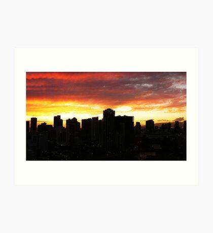 Penthouse Sunset Art Print
