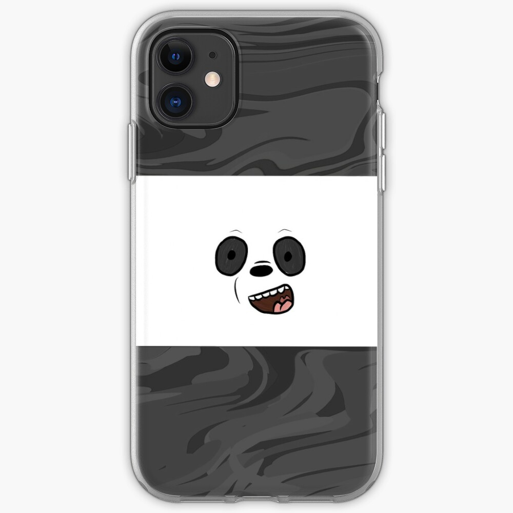 We Bare Bears Panda Marble iPhone Case & Cover
