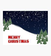 Merry Christmas Card Photographic Print