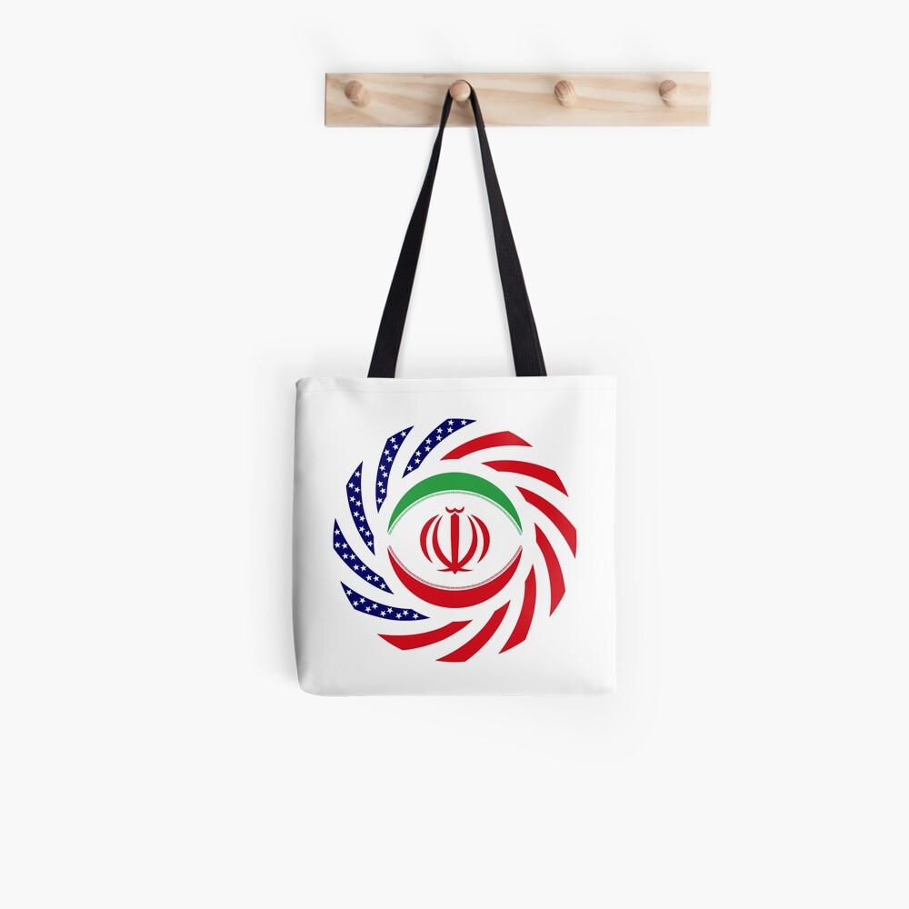 Iranian American Multinational Patriot Flag Series Tote Bag