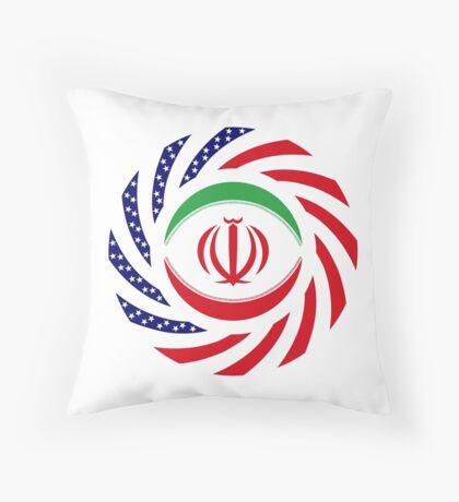Iranian American Multinational Patriot Flag Series Throw Pillow