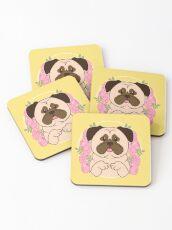 Cinnamon the Pug Coasters