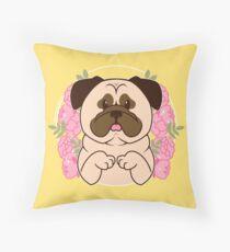 Cinnamon the Pug Throw Pillow