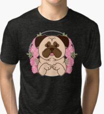 Cinnamon the Pug Tri-blend T-Shirt