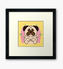 Cinnamon the Pug Framed Print
