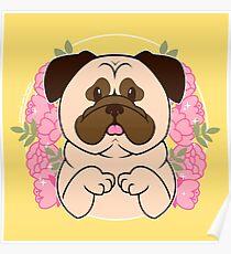 Cinnamon the Pug Poster
