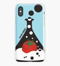 Funny food nerd tomato chemistry beaker iPhone Case/Skin