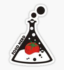 Funny food nerd tomato chemistry beaker Sticker
