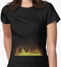 ♡ love ♡ Women's Fitted T-Shirt