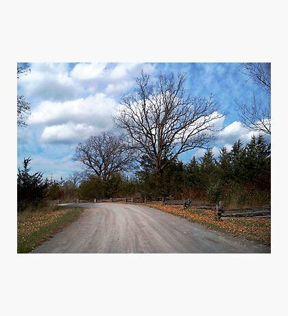 October Drive Photographic Print