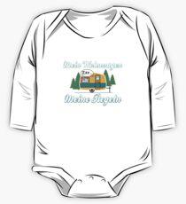Mein Wohnwagen Meine Regeln - Lustiges Camping Geschenk Baby Body Langarm