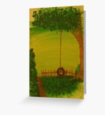 By the tire swing Greeting Card