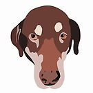 Kundenspezifischer Doberdor-Hundeaufkleber-Kunst von mollymariani