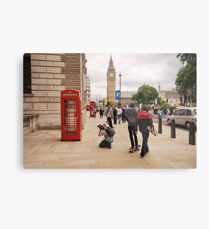 Westminster Photographer in Action Metal Print
