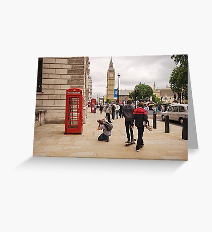 Westminster Photographer in Action Greeting Card